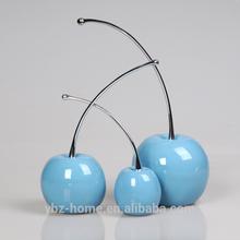 2015 Creative design a set blue environmental resin cherry ornament