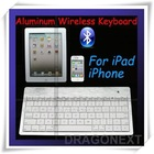 Factory Price Universal Aluminum Bluetooth Wireless Keyboard For iPad /For iPhone/For Smartphone