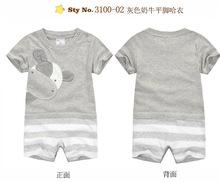 Boxer momscare mameluco del bebé niño recién nacido macho de bebé de algodón corto- manga leotardo ropa de escalada