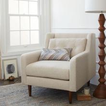 Italian design single seater sofa chair living room furniture sofa fabric chair