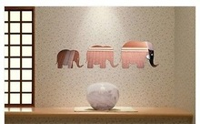Custom Funny Elephant adhesive acrylic Wall mirror Sticker For Home Decoration