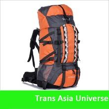 Hot Sale best selling 80L nylon waterproof hiking backpack bag