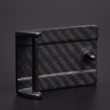 Personality matte top initial belt buckles with carbon fiber
