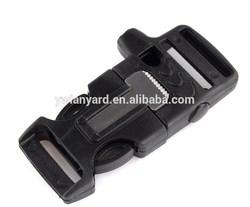 Side Release whistle Buckle w/ Flint Fire Starter & Scaper for Bracelet Paracord