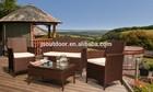 rattan outdoor furniture KD 4pcs set