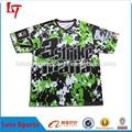 Caliente 2015 por encargo de venta al por mayor baratos de camuflaje de manga corta de camuflaje del ejército t- shirt para adultos o de ropa juvenil
