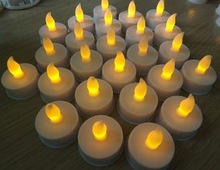 Flameless yellow LED Candles , christmas led lights candles
