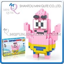 Mini Qute BALODY cartoon SpongeBob SquarePants Patrick Star plastic Series connect building blocks educational toy NO.68067