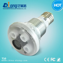 One LED light two infrared lights 720P LED camera light, light bulb camera, hidden camera light bulb
