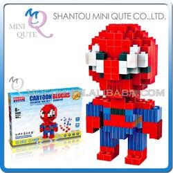 Mini Qute BALODY Marvel Avenger super hero Spiderman plastic nano Series connect building blocks boys educational toy NO.68008