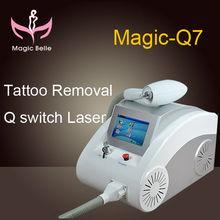 Cheap portable Q switch nd yag laser/ tattoo removal machine Magic-Q7