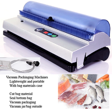 automatical food saver vacuum sealer, packing food at home
