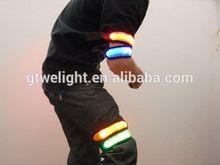 Best quality hot-sale reflective snap arm belt with led light