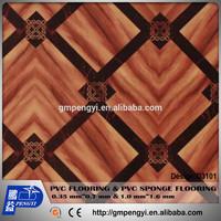manufactory supply cheap price FOB GuangZhou thickness 0.5mm width 2M PVC vinyl flooring roll plastics