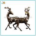qualidade superior bonita sika metal figurine animal estátua de metal decoração de casa