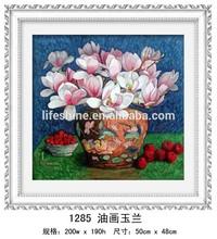 """ magnolia in the oil painting "" DIY Full Diamond Painting"