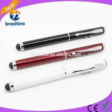 Fancy laser pointer led light ball pen 4 in 1 stylus pen