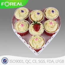 heart shape powder coating cake stand for wedding