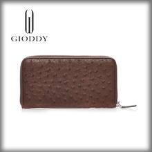 100% genuine ostrich skin leather Vintage men's wallet