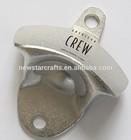 Custom design zinc alloy wall mount bottle opener