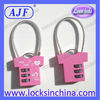 Pink color golf bag lock with cable
