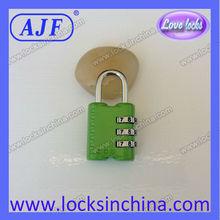 promotional TSA shape number lock for luggage bag