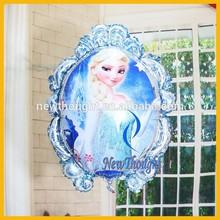 Wholesale mirror shape elsa frozen foil balloon