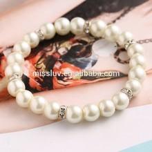 elastic pearl bead bracelet summer pearl bead bracelet stretchable pearl bracelets