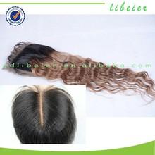 closure raw unprocessed virgin brazilian hair ombre tow tone human hair extension closure