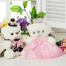 wholesale 18cm crystal beaded Double wedding teddy pink bear for one piar Zeman Brand 120