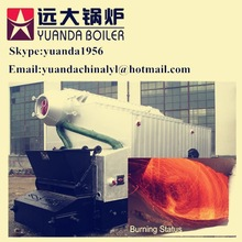 6ton 1.25/1.6Mpa double drum wood waste fired steam boiler for industry
