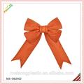 2015 natal laranja fita de cetim gigante laço de borboleta para o partido celebratting
