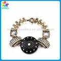 espiritual bracelete grânulo preto antigo charme pulseira de ouro meninos