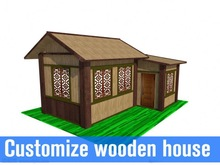 short completion time prefabricated woodeb house prefab house hot sale wooden house