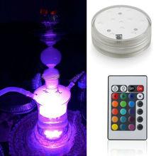 Multicolor Luxurious LED Shisha Glass Hookah Light for Centerpiece Wedding Decoration