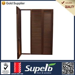 Window high grade brown swing aluminum louver window frames