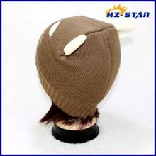 HZM-14112005 2015 popular Designer stylish newborn baby toddlers winter animal children cat knit hat
