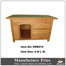 Flat and waterproof roof custom indoor wooden dog kennel