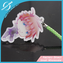 Promotional fashionable acrylic transparent color keyring