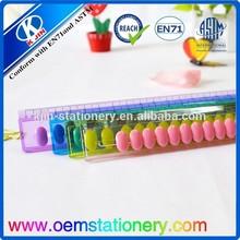 free sample 8 inch plastic ruler for promotion