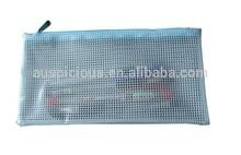 Soft Plastic Zip Closure water resistant document pouch