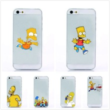 New Top Fasion Hard Cover For Iphone 5 Case The Homer Simpson Simpsons Gasp Logo Transparent Clear Capa For Apple Iphone 5S Case