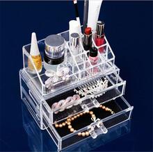 Clear Acrylic Make Up Organizer Acrylic Cosmetic Box Clear Acrylic Lipstick Organizer/Holds 24 Lipstick