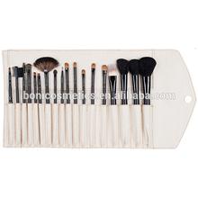 Top sale 18pcs soft natural hair make up brush sets