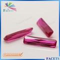 facetas de jóias por atacado de pedras preciosas octagon cut loose sintética rubi bruto preços