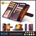 Nueva llegada de multi- función de cuero caso de la cartera monedero de teléfono para motorola mtp850 con titular de la tarjeta