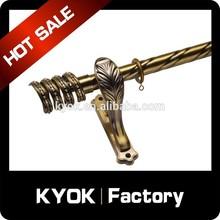 KYOK New designs wrought iron curtain rods in dubai ,ac double curtain rod