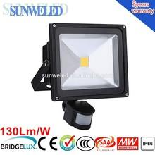 Meanwell Driver Sensor LED Flood light 10w 20w 30w 50w 70w 100w with IES File
