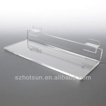 Custom clear plastic wall shelf