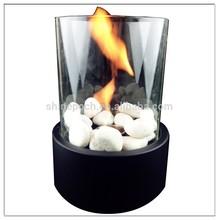 Round Glass Fireplace